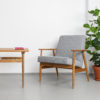 armchairs, furniture, interior-design, LOUNGE CHAIR FOX | TWEED - Mood Fox Lounge Chair TWEED Grey 100x100