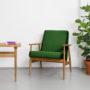 , LOUNGE SESSEL FOX | VELVET - Mood Fox Lounge Chair VELVET Bottle Green 90x90