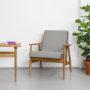 , LOUNGE SESSEL FOX | VELVET - Mood Fox Lounge Chair VELVET Grey 90x90