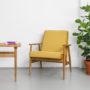 , LOUNGE SESSEL FOX | VELVET - Mood Fox Lounge Chair VELVET Mustard 90x90