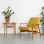 , LOUNGE SESSEL FOX I LOFT - Mood2 Fox Lounge Chair Loft Mustard  90x90