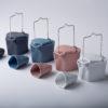 porcelain_and_ceramics, pots, interior-design, BENT TEA SET   DARK GREY - Modus Czajniczki pogięte set 100x100