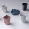 porcelain_and_ceramics, pots, interior-design, BENT TEA SET   DARK GREY - modus kubeczki pogięte 100x100