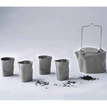 pots, porcelain_and_ceramics, interior-design, BENT TEA SET | LIGHT GREY - zestaw gnieciony szary 350x350