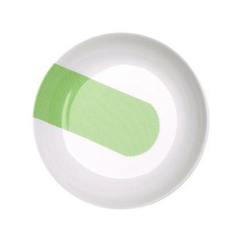 porcelain_and_ceramics, plates, interior-design, SOUP PLATE NEW ATELIER | GREEN - newatelier green talerzgleboki 350x350