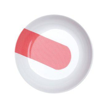 porcelain_and_ceramics, plates, interior-design, SOUP PLATE NEW ATELIER | RED - newatelier red talerz głęboki 21 350x350