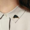 schmuck, pins, PIN SCHWARZES WILDSCHWEIN - IMG 2555p 100x100