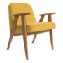 , 366 EASY CHAIR WOOL - 366 Concept   366 easy chair   Wool 01 Mustard   Oak 90x90