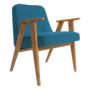 , SESSEL 366 EASY CHAIR WOOL - 366 Concept   366 easy chair   Wool 02 Turquoise   Oak 90x90