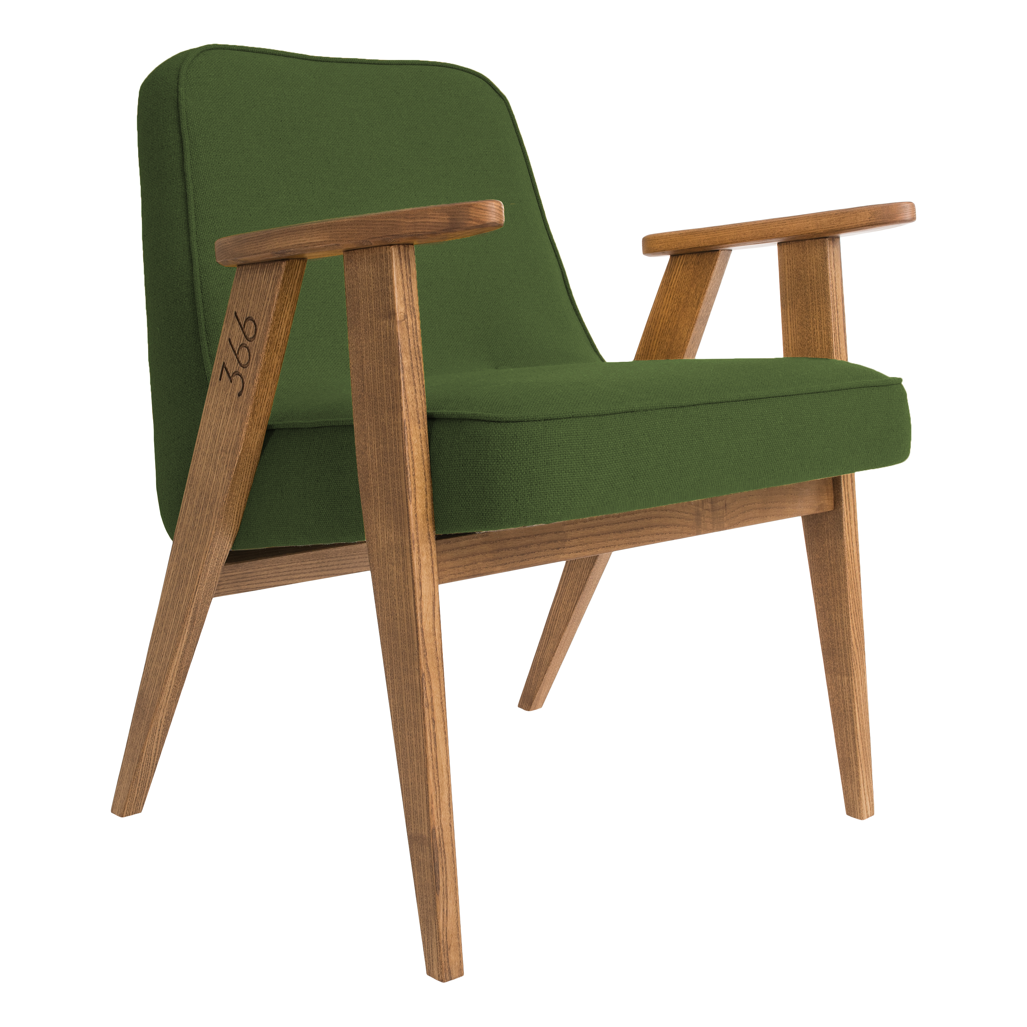 366_Concept_-_366_easy_chair_-_Wool_03_Olive_-_Oak