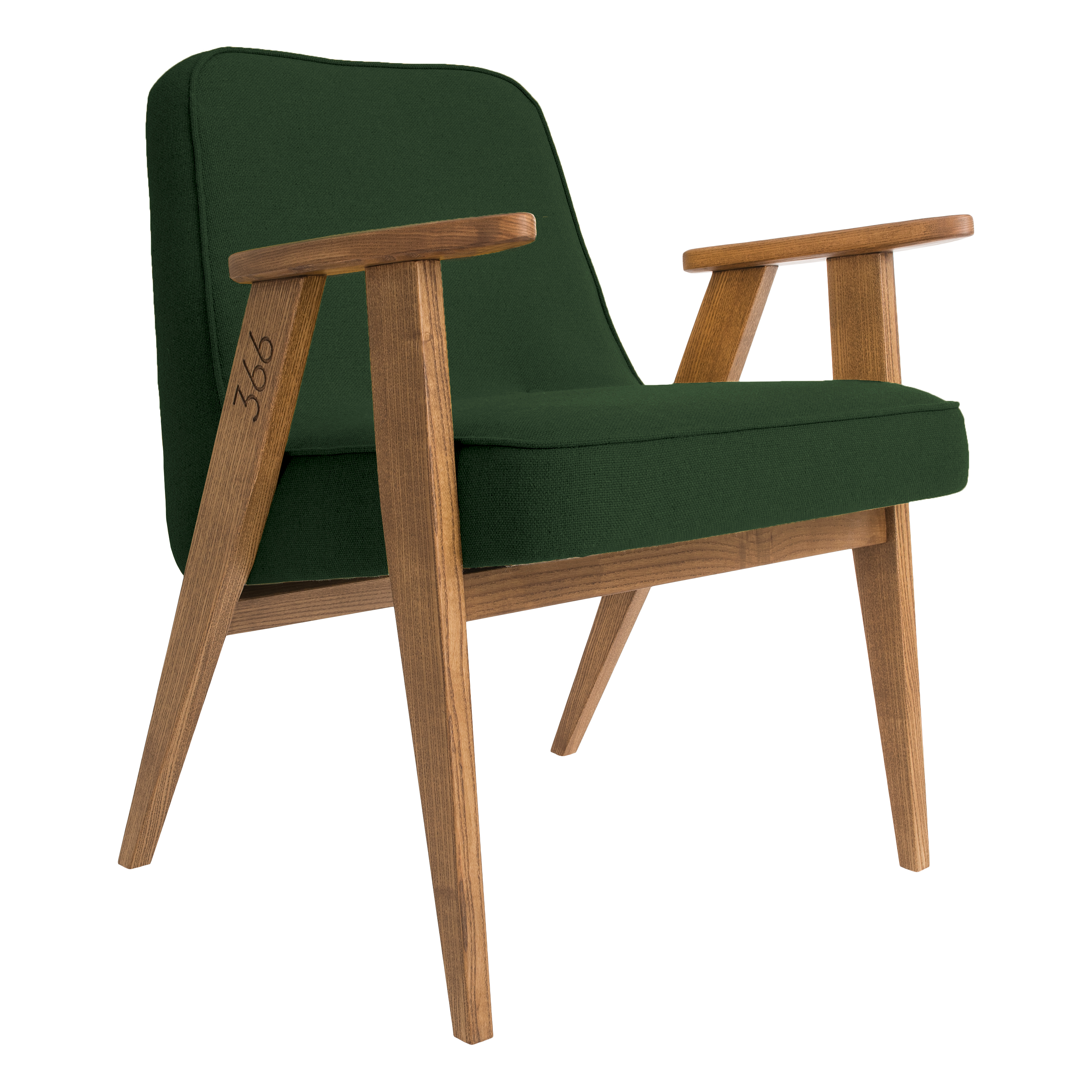 interior-design, furniture, armchairs, 366 EASY CHAIR WOOL - 366 Concept   366 easy chair   Wool 04 Bottle Green   Oak
