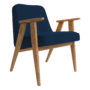, 366 EASY CHAIR WOOL - 366 Concept   366 easy chair   Wool 05 Jeans   Oak 90x90