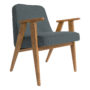 , 366 EASY CHAIR WOOL - 366 Concept   366 easy chair   Wool 06 Light Blue   Oak 90x90