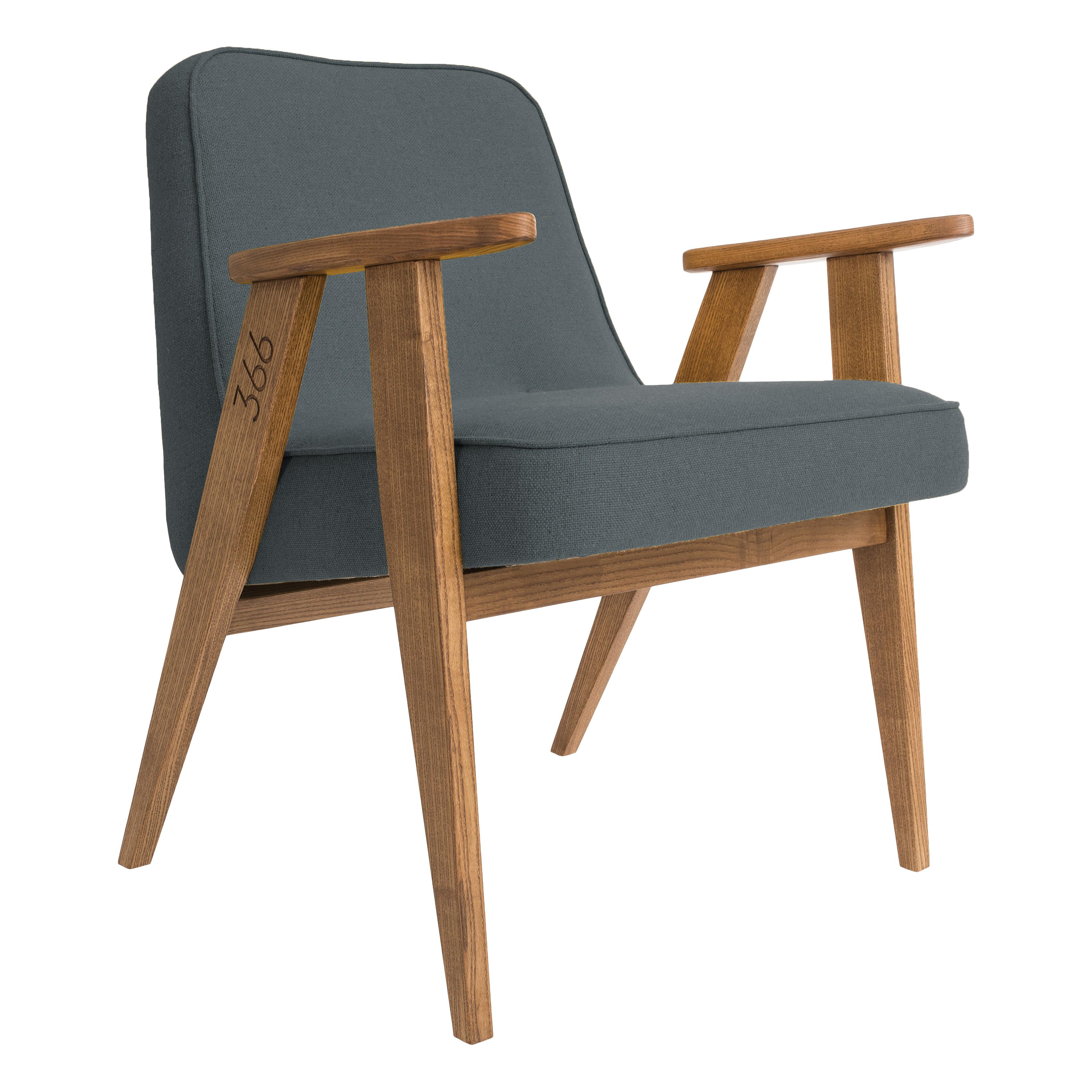 366_Concept_-_366_easy_chair_-_Wool_06_Light Blue_-_Oak