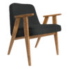armchairs, furniture, interior-design, 366 EASY CHAIR WOOL - 366 Concept   366 easy chair   Wool 07 Graphite   Oak 100x100