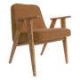, SESSEL 366 PLUS WOOL - 366 Concept   366 easy chair   Wool 08 Orange   Oak 90x90