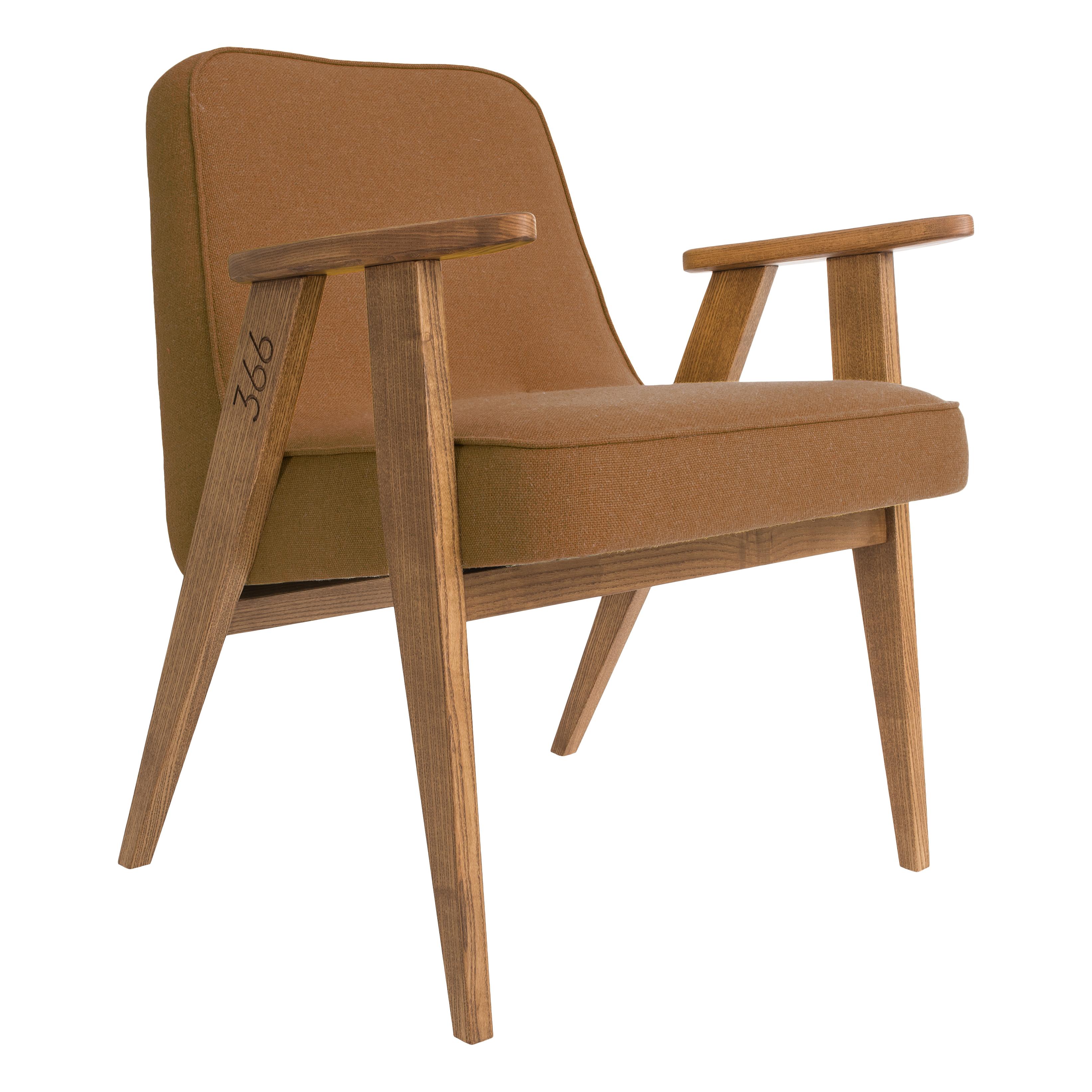 366_Concept_-_366_easy_chair_-_Wool_08_Orange_-_Oak