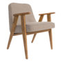 , SESSEL 366 EASY CHAIR WOOL - 366 Concept   366 easy chair   Wool 09 Sand   Oak 90x90