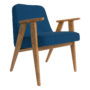 , SESSEL 366 EASY CHAIR WOOL - 366 Concept   366 easy chair   Wool 10 Blue   Oak 90x90