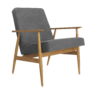 , LOUNGE CHAIR FOX | DENIM - Fox Armchair Denim Dark Grey 90x90
