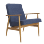 , LOUNGE CHAIR FOX | DENIM - Fox Armchair Denim Dark Jeans 90x90