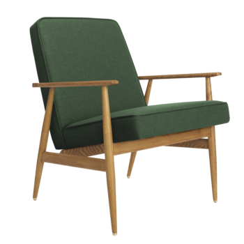 , LOUNGE SESSEL FOX | WOOL - Fox Armchair Wool Bottle Green 350x350