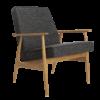 armchairs, furniture, interior-design, LOUNGE CHAIR FOX | WOOL - Fox Armchair Wool Grey Black 100x100
