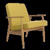 armchairs, furniture, interior-design, LOUNGE CHAIR FOX | WOOL - Fox Armchair Wool Mustard 100x100