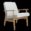 sessel, mobel, wohnen, LOUNGE SESSEL FOX | WOOL - Fox Armchair Wool White Blue 100x100