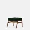 sessel, mobel, wohnen, fussbaenke, FUßBANK FOX | VELVET - 366 Concept Fox Footrest W03 Velvet Bottle Green 100x100