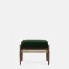 sessel, mobel, wohnen, fussbaenke, FUßBANK FOX | VELVET - 366 Concept Fox Footrest W03 Velvet Bottle Green front 100x100