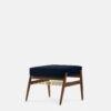 sessel, mobel, wohnen, fussbaenke, FUßBANK FOX | VELVET - 366 Concept Fox Footrest W03 Velvet Indigo 100x100