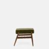 sessel, mobel, wohnen, fussbaenke, FUßBANK FOX | VELVET - 366 Concept Fox Footrest W03 Velvet Olive side 100x100