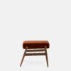 sessel, mobel, wohnen, fussbaenke, FUßBANK FOX | VELVET - 366 Concept Fox Footrest W03 Velvet Red Brick side 100x100