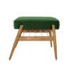 sessel, mobel, wohnen, fussbaenke, FUßBANK FOX | VELVET - 366 concept footrest ash 02 velvet bottle green 100x100