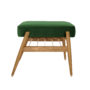 , FUßBANK FOX | VELVET - 366 concept footrest ash 02 velvet bottle green 90x90