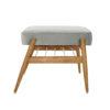 sessel, mobel, wohnen, fussbaenke, FUßBANK FOX | VELVET - 366 concept footrest ash 02 velvet grey 100x100