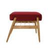 sessel, mobel, wohnen, fussbaenke, FUßBANK FOX | VELVET - 366 concept footrest ash 02 velvet merlot 100x100