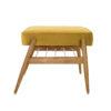 sessel, mobel, wohnen, fussbaenke, FUßBANK FOX | VELVET - 366 concept footrest ash 02 velvet mustard 100x100