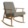 , SCHAUKELSTUHL FOX | LOFT - Fox Rocking Chair LOFT Grey Dark Oak 90x90