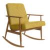 armchairs, furniture, rocking-chairs, interior-design, ROCKING CHAIR FOX | LOFT - Fox Rocking Chair LOFT Mustard Dark Oak 100x100