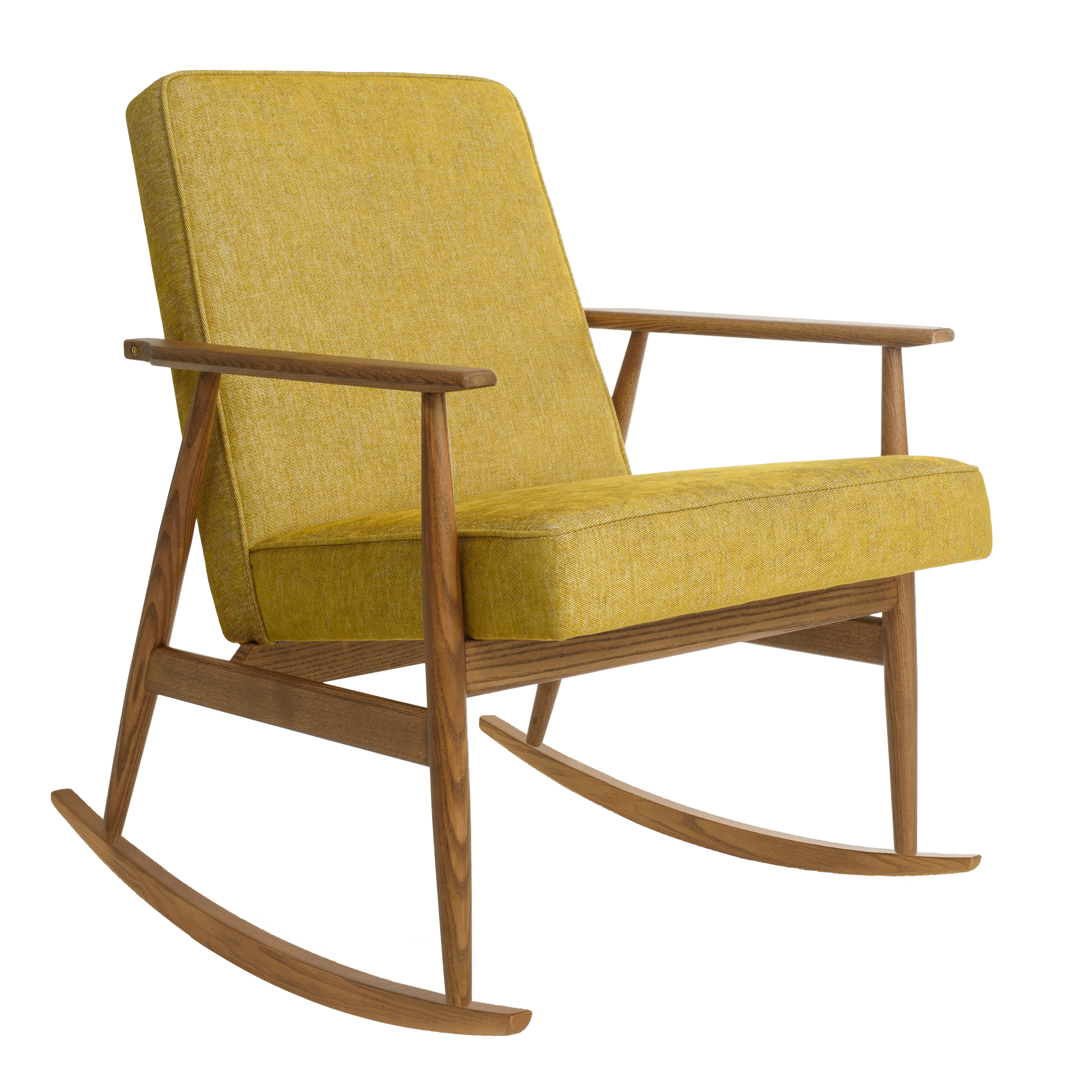 Fox Rocking Chair LOFT Mustard Dark Oak