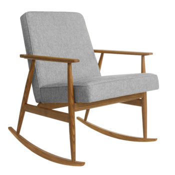 , ROCKING CHAIR FOX | LOFT - Fox Rocking Chair LOFT Silver Dark Oak 350x350