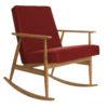 armchairs, furniture, rocking-chairs, interior-design, ROCKING CHAIR FOX | VELVET - Fox Rocking Chair SHINE VELVET Merlot Dark Oak 100x100