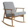 armchairs, furniture, rocking-chairs, interior-design, ROCKING CHAIR FOX | TWEED - Fox Rocking Chair TWEED Grey Dark Oak 100x100