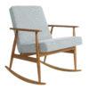 armchairs, furniture, rocking-chairs, interior-design, ROCKING CHAIR FOX | TWEED - Fox Rocking Chair TWEED Mentos Dark Oak 100x100