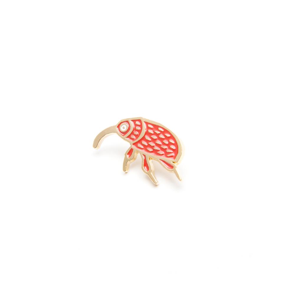 schmuck, pins, PIN ROTER HASELNUSSBOHRER - MG 5048