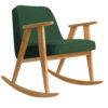 sessel, mobel, wohnen, schaukelstuehle, SCHAUKELSTUHL 366 WOOL - 366 concept 366 rocking chair oak 02 wool bottle green 100x100