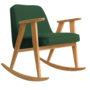 , SCHAUKELSTUHL 366 PLUS WOOL - 366 concept 366 rocking chair oak 02 wool bottle green 90x90