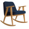 sessel, mobel, wohnen, schaukelstuehle, SCHAUKELSTUHL 366 WOOL - 366 concept 366 rocking chair oak 02 wool jeans 100x100